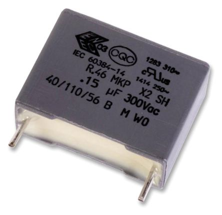 KEMET 680nF Polypropylene Capacitor PP 310 V ac, 630 V dc ±10% Tolerance Through Hole R46 Series (8)