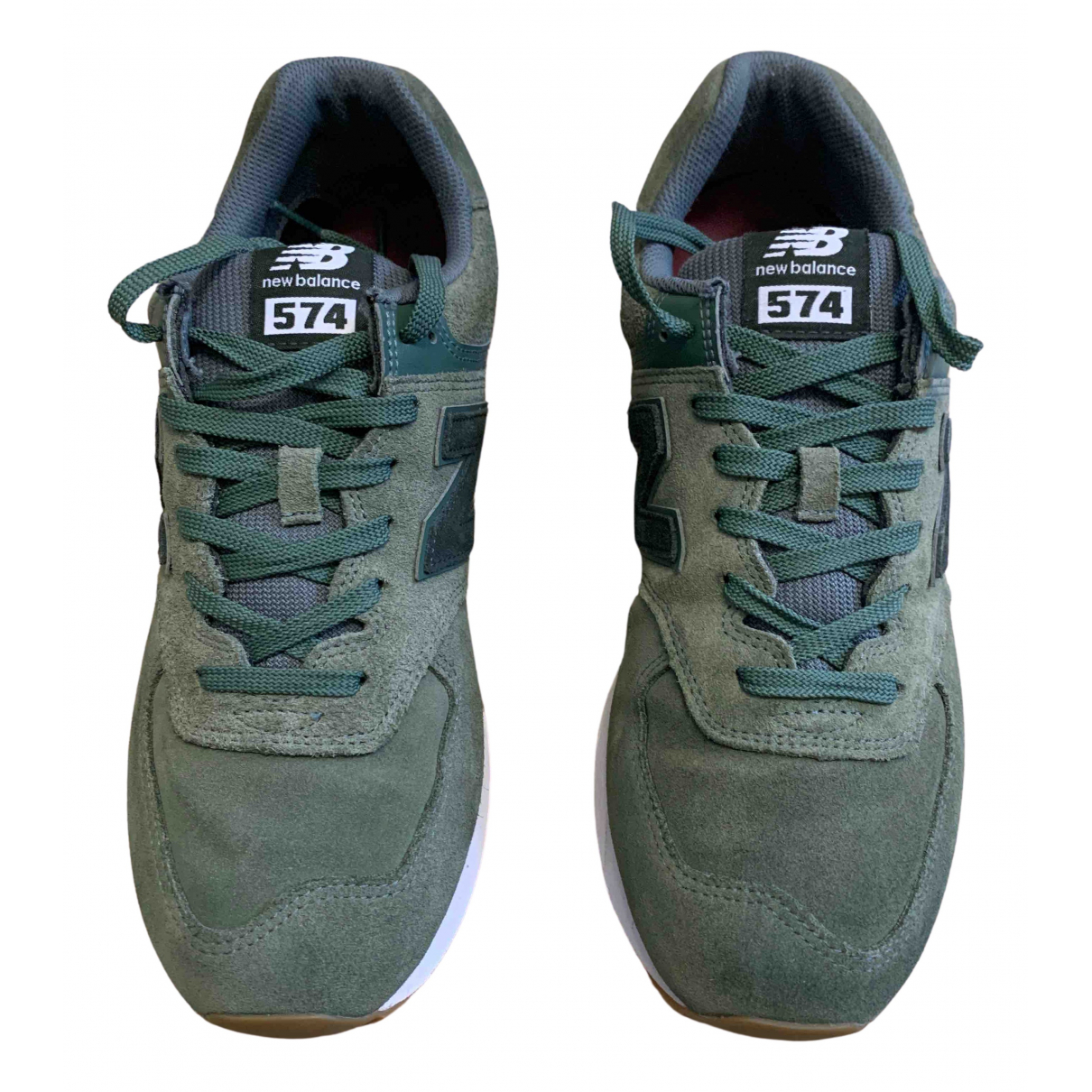 New Balance \N Green Leather Trainers for Men 45 EU