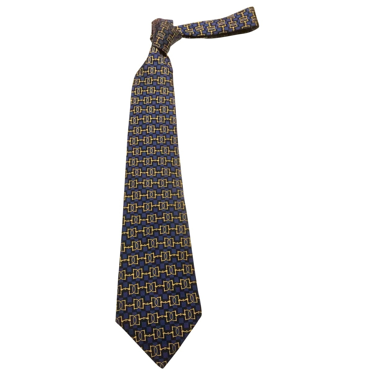 Hermès \N Navy Silk Ties for Men \N
