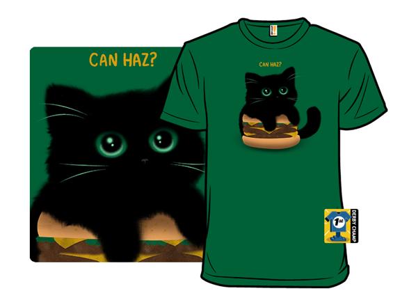 Cheeseburger Cat T Shirt