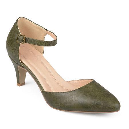 Journee Collection Womens Bettie Pumps Stiletto Heel, 8 Medium, Green