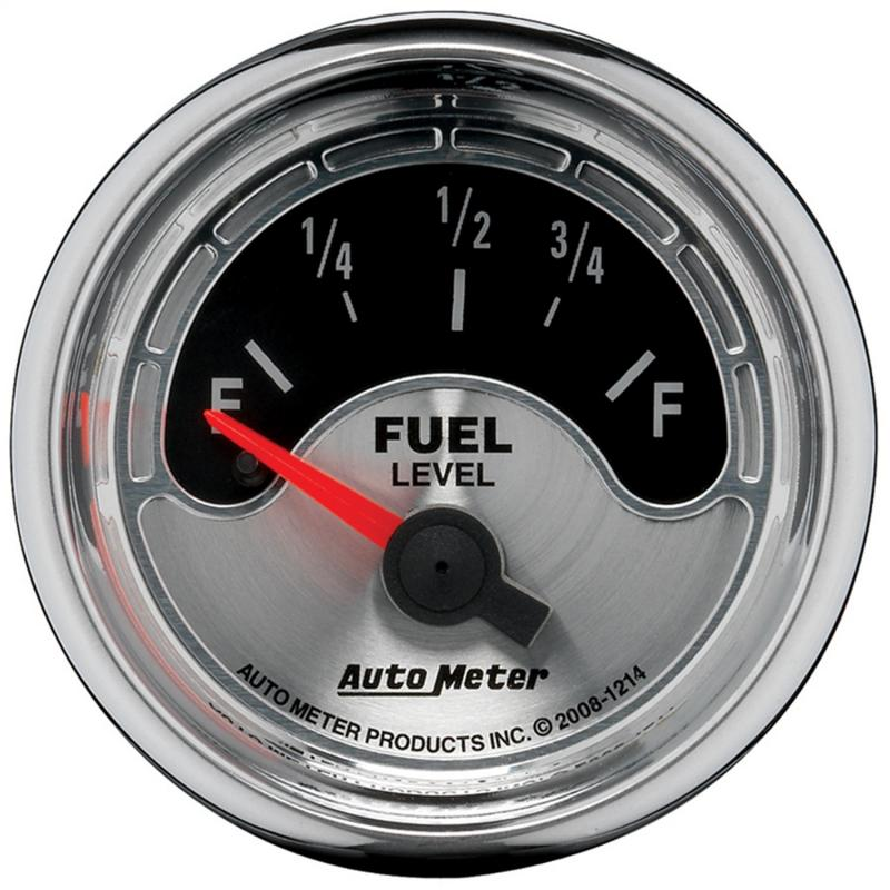 AutoMeter GAUGE; FUEL LEVEL; 2 1/16in.; 0OE TO 90OF; ELEC; AMERICAN MUSCLE