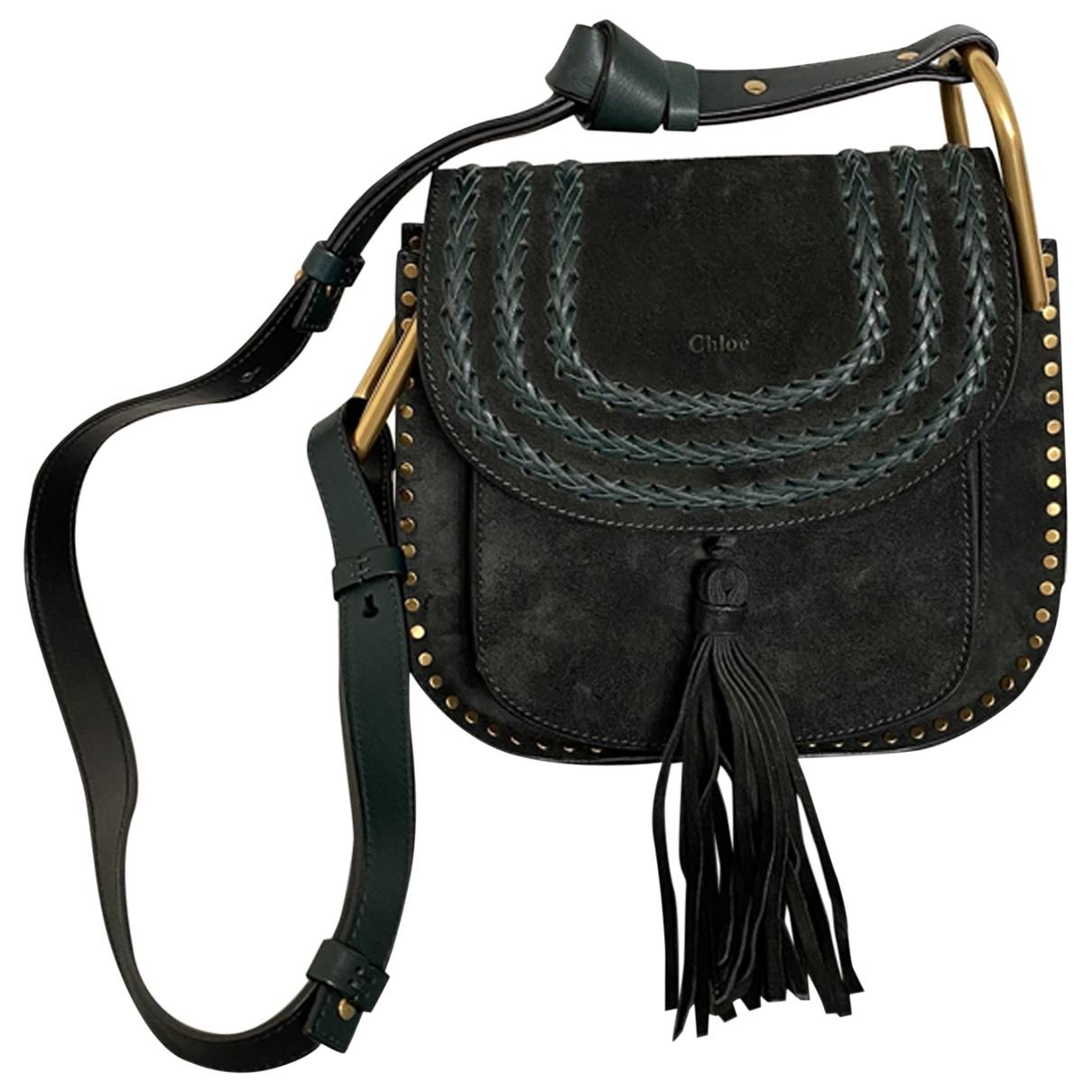 Chloé Hudson Green Suede handbag for Women \N