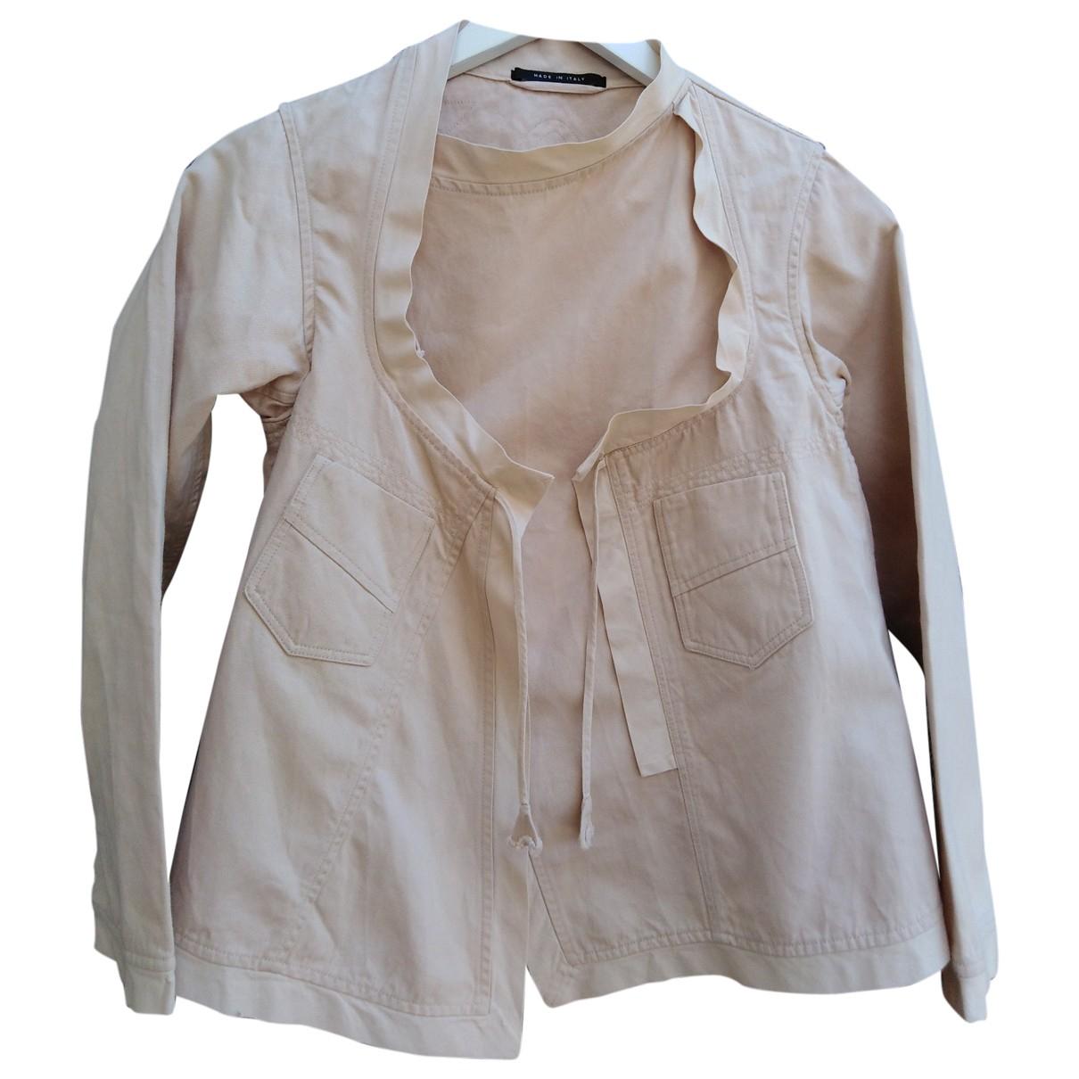 Gucci \N Beige Denim - Jeans jacket for Women 40 IT