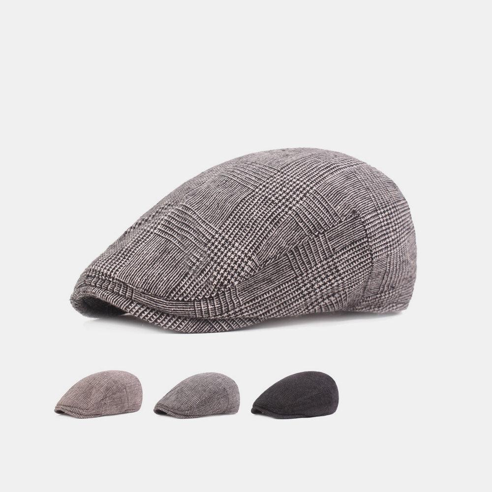 Men's Forward Hat Simple Cap Cotton Beret