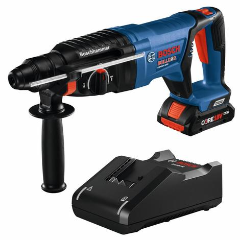 Bosch 18V EC Brushless SDS-plus® Bulldog™ 1 In. Rotary Hammer Kit with (1) Core18V 4.0 Ah Compact Battery