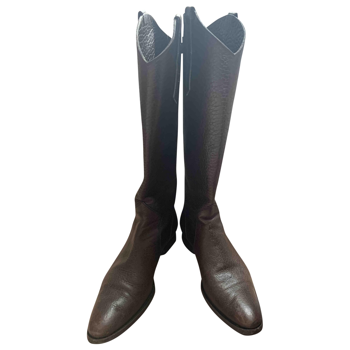 Santoni \N Brown Leather Boots for Women 38.5 EU
