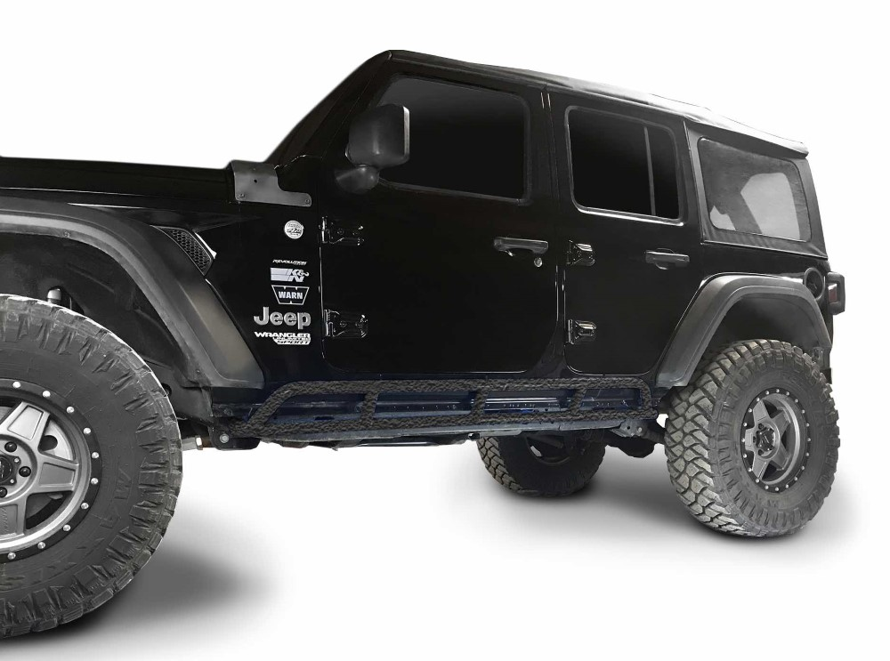 Steinjager J0049198 Rock Slider (Texturized Black) Jeep Wrangler JL 4-Door 2018-2020
