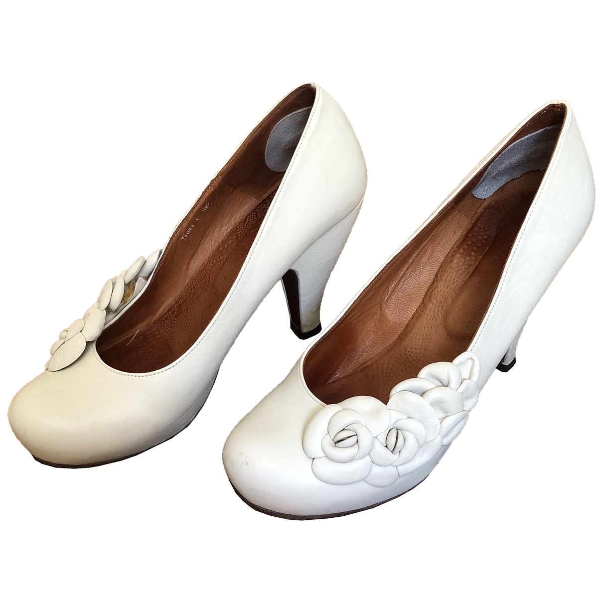 Chie Mihara \N White Leather Heels for Women 38.5 EU