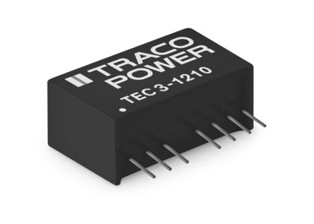 TRACOPOWER TEC 3 3W Isolated DC-DC Converter Through Hole, Voltage in 36 → 75 V dc, Voltage out 3.3V dc