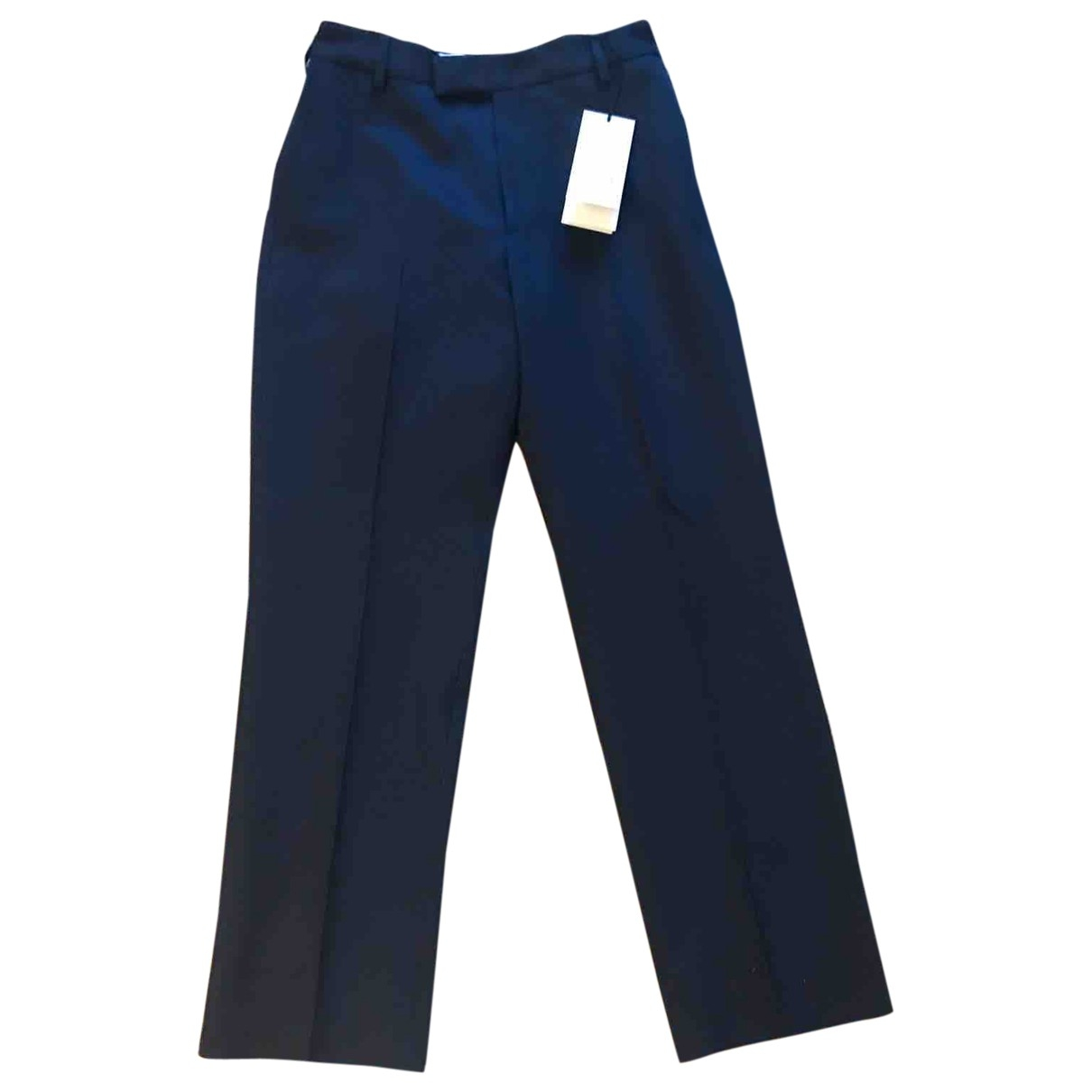 Gucci \N Navy Cotton Trousers for Men 44 IT