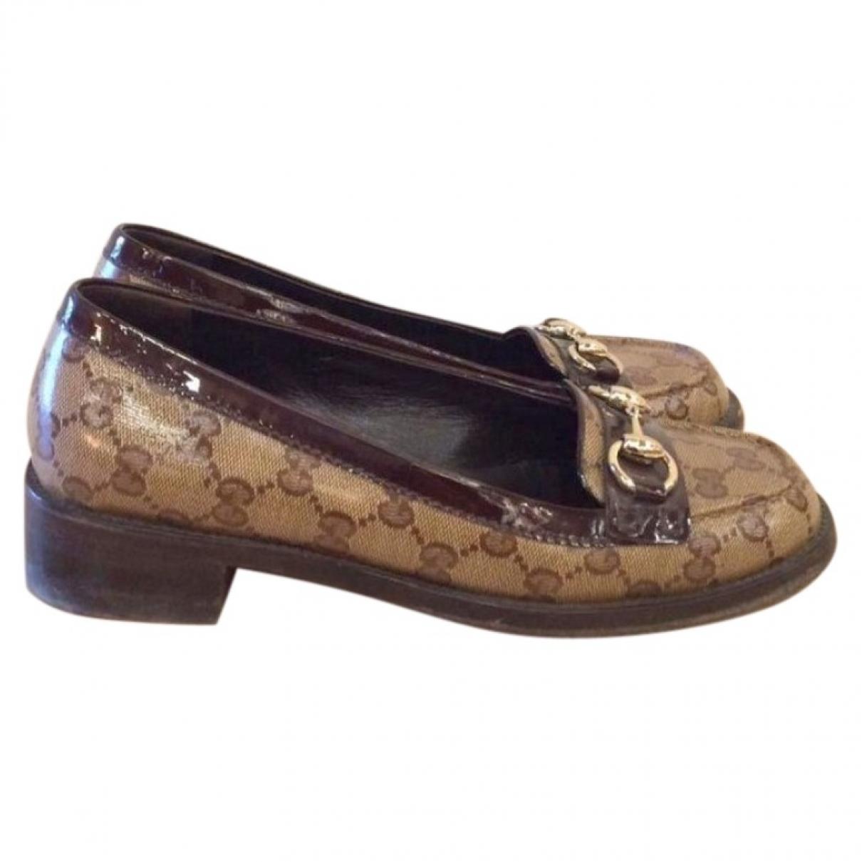 Gucci \N Brown Cloth Flats for Women 38 EU