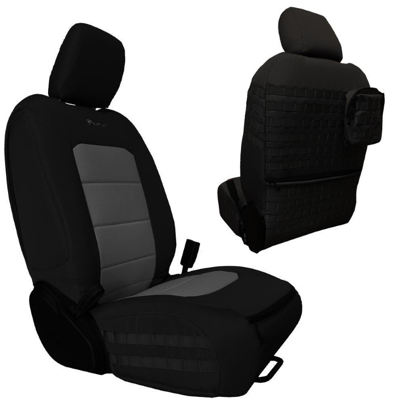 Bartact JTTC2019FPBG Front Seat Covers 2019 and Up Jeep Gladiator Black/Graphite