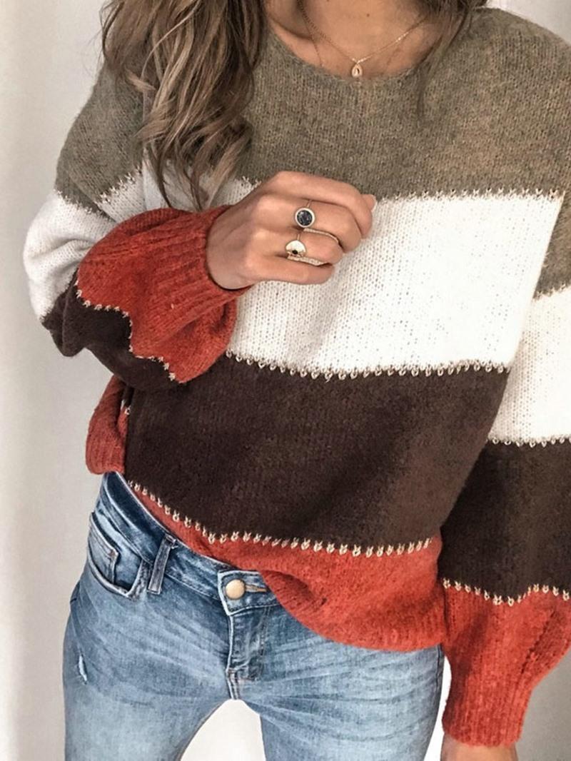 Ericdress Regular Thin Fall Round Neck Sweater