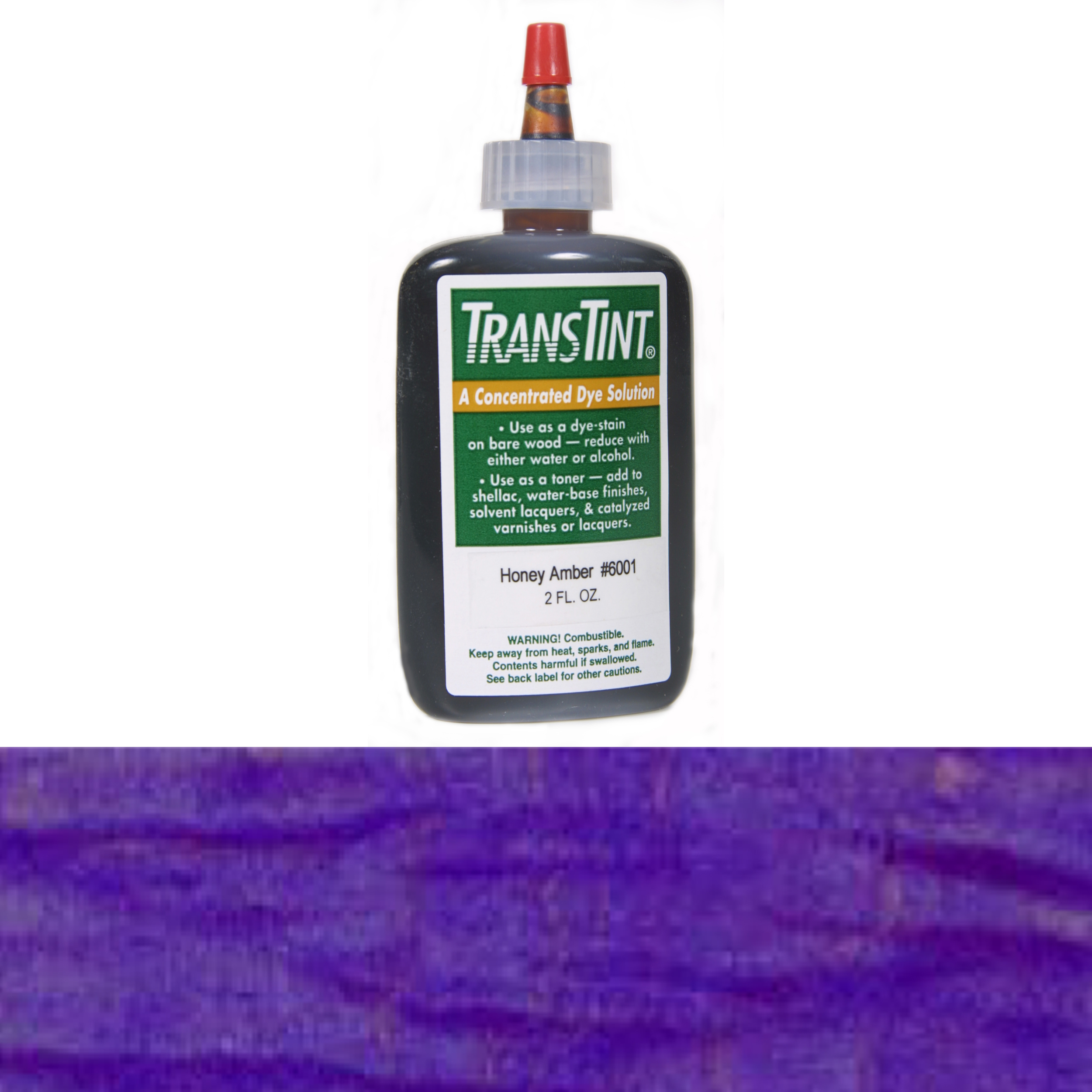 Purple Transtint Alcohol/Water Soluble Dye 1 oz