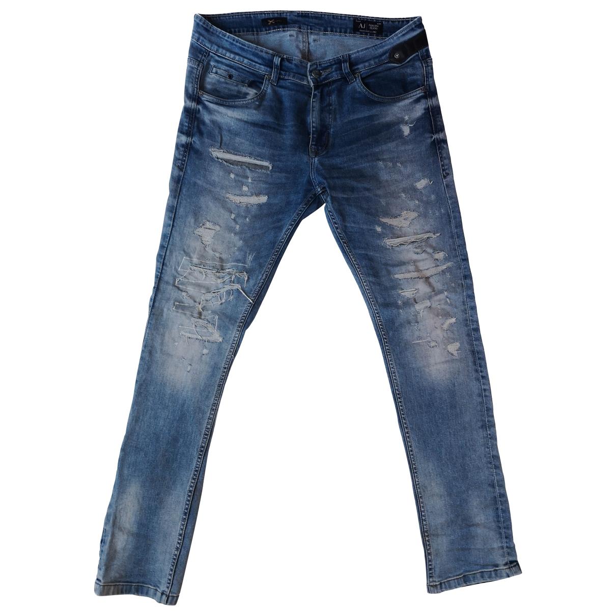Armani Jeans \N Blue Cotton Jeans for Men 32 US