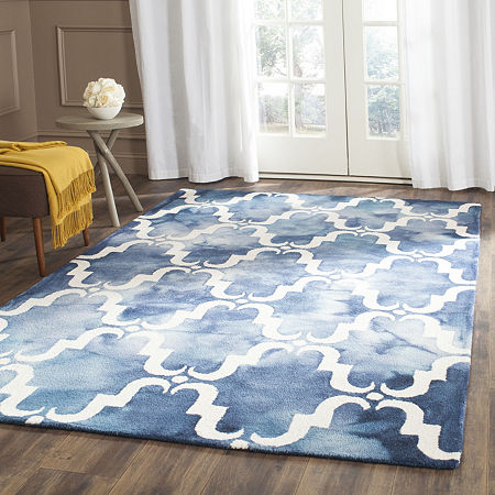 Safavieh Dip Dye Collection Wendell Geometric Square Area Rug, One Size , Multiple Colors