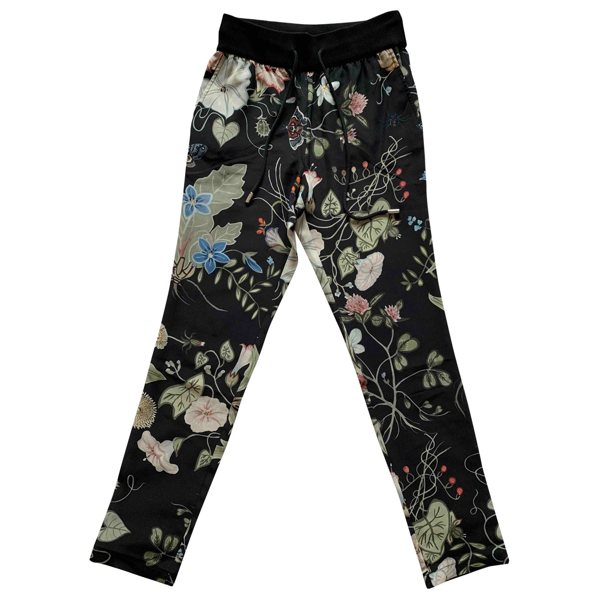 Gucci \N Multicolour Silk Trousers for Women 36 IT