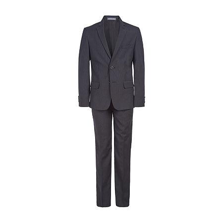 Van Heusen Flex Little & Big Boys 2-pc. Pant Suit, 14 , Black