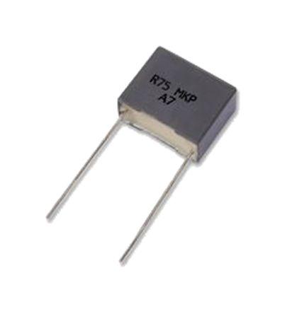 KEMET 10μF Polypropylene Capacitor PP 90 V ac, 160 V dc ±5% Tolerance Through Hole R75 Series
