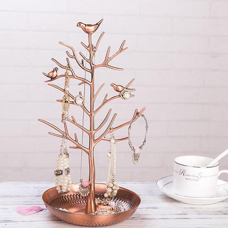 6*12in Tree Pattern Luxury Style 1 Piece Jewelry Rack