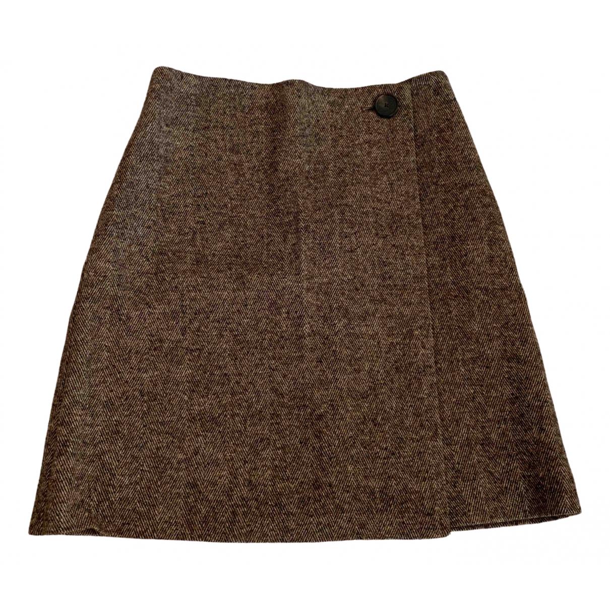 Massimo Dutti \N Brown Wool skirt for Women 34 FR