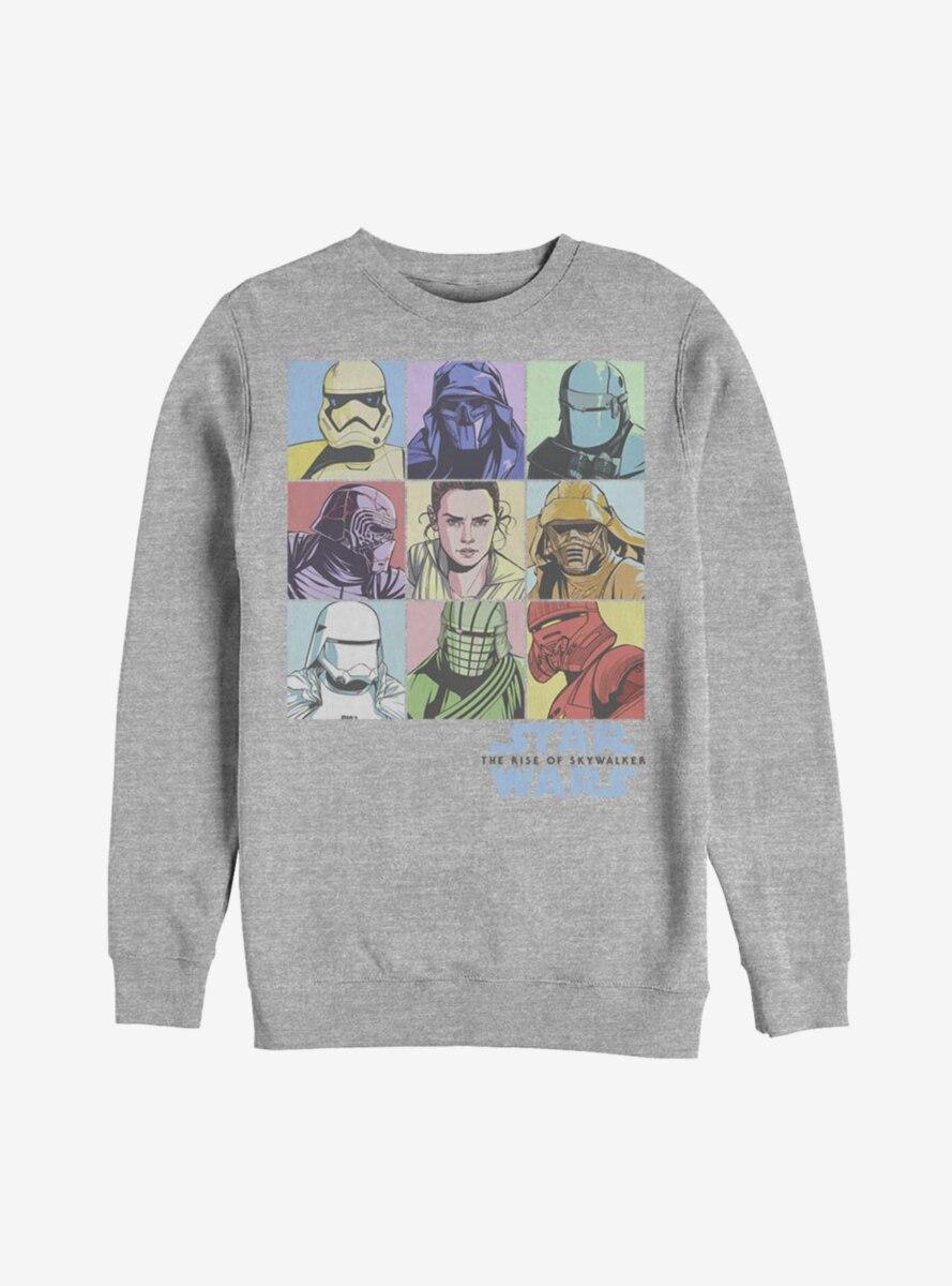 Star Wars Episode IX The Rise Of Skywalker Pastel Rey Boxes Sweatshirt