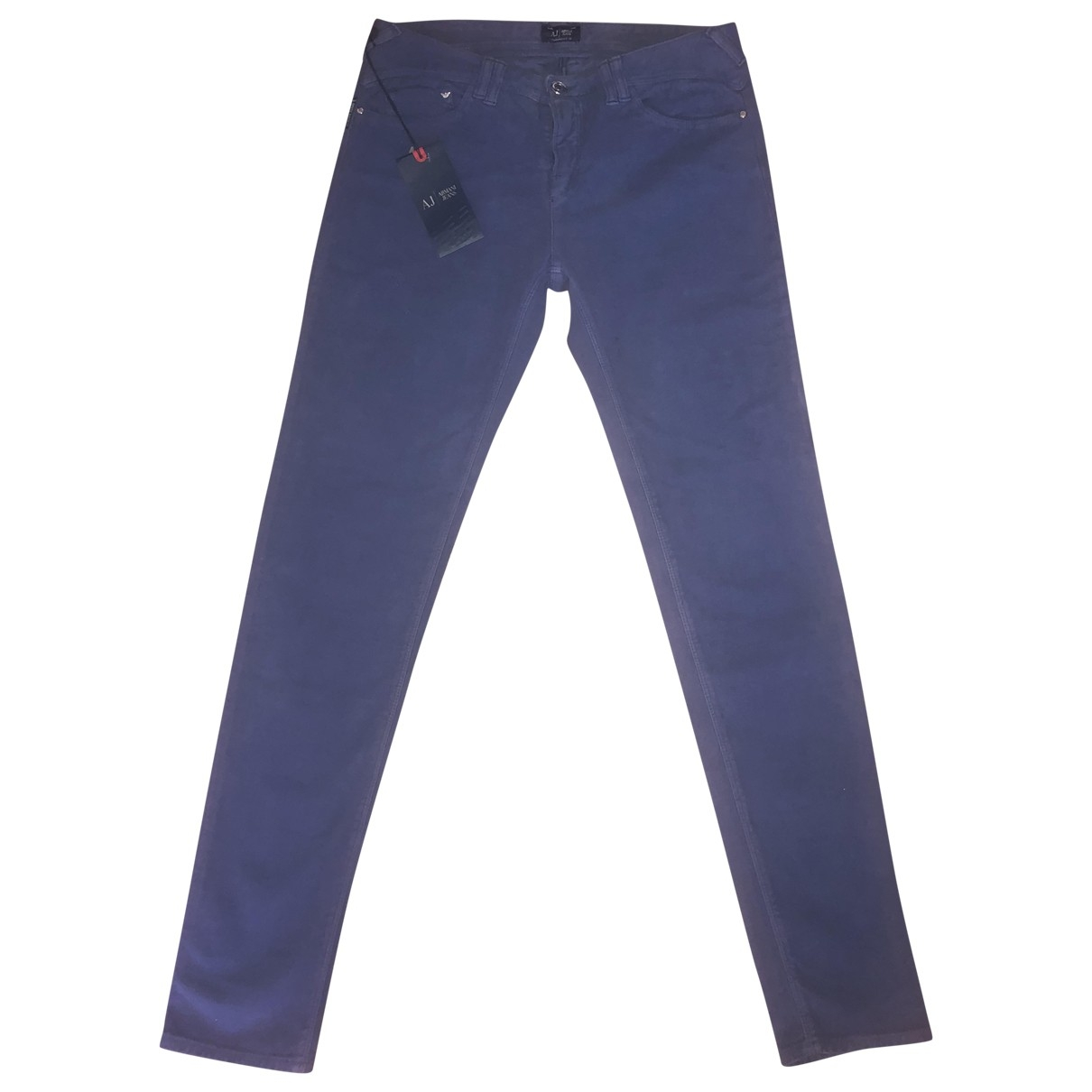 Armani Jeans \N Blue Cotton - elasthane Jeans for Women 29 US