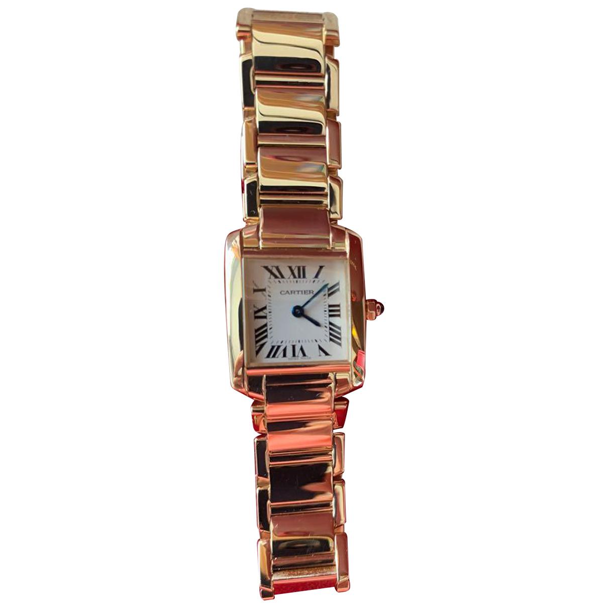 Cartier Tank Française Gold Yellow gold watch for Women \N