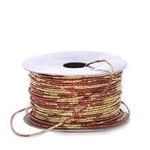Red/Gold Variegated Metallic Cord - 1.5mm X 50 Yards - Ribbon by Paper Mart