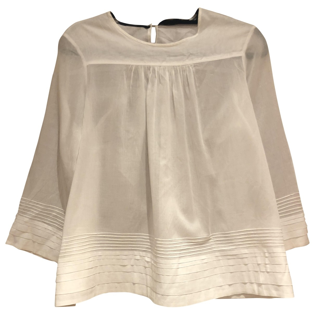 Burberry \N White Cotton  top for Women 12 UK