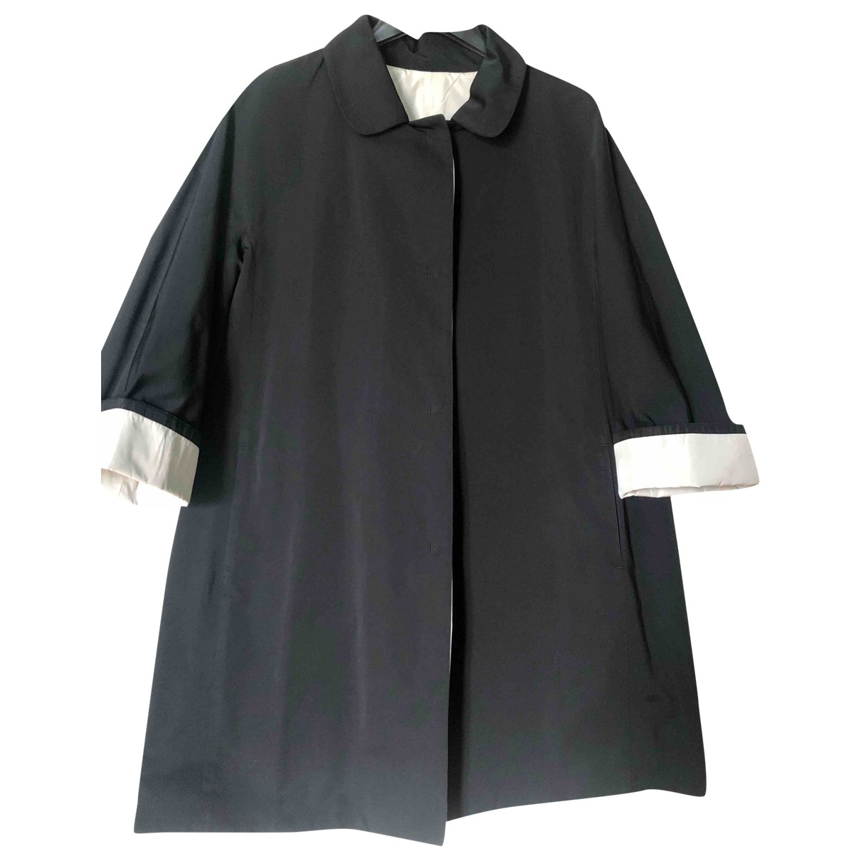 Max Mara 's \N Black Trench coat for Women 44 IT