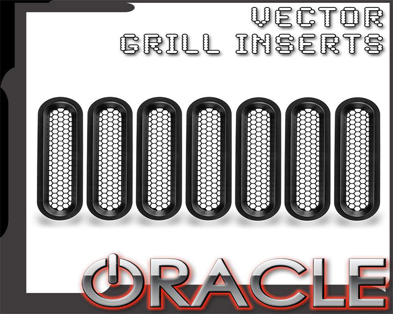 Oracle Lighting 5840-504 Vertical Mesh Inserts for ORACLE Vector Grill (JK Model Only)