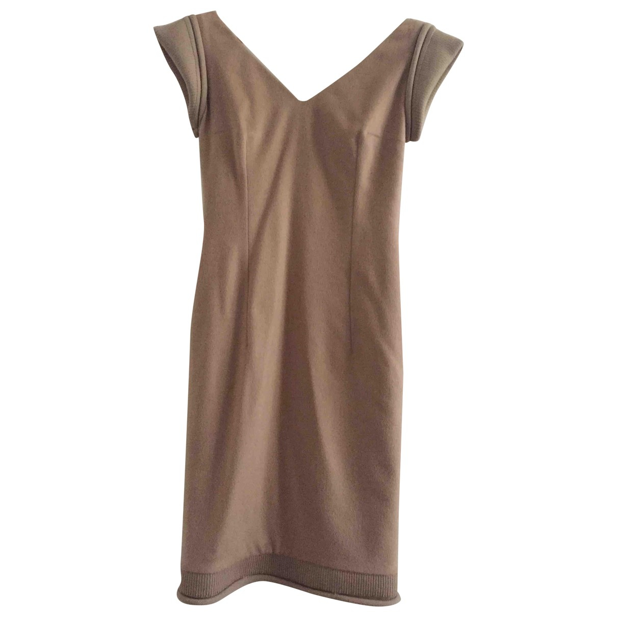 Dior \N Camel Wool dress for Women 36 FR