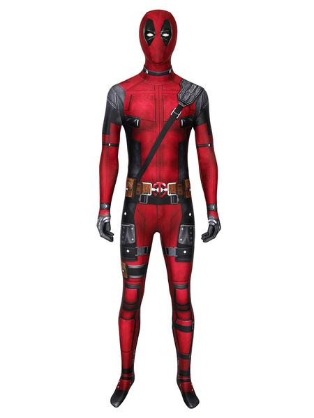 Milanoo Marvel Comics Dead Pool Outfit Cosplay Costume Halloween