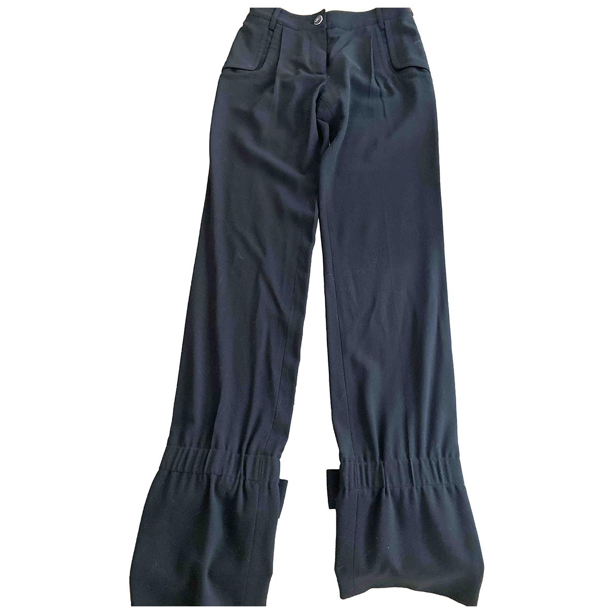 Chanel \N Black Wool Trousers for Women 38 FR