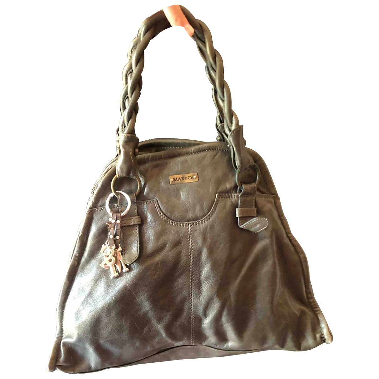 Max & Co \N Grey Leather handbag for Women \N
