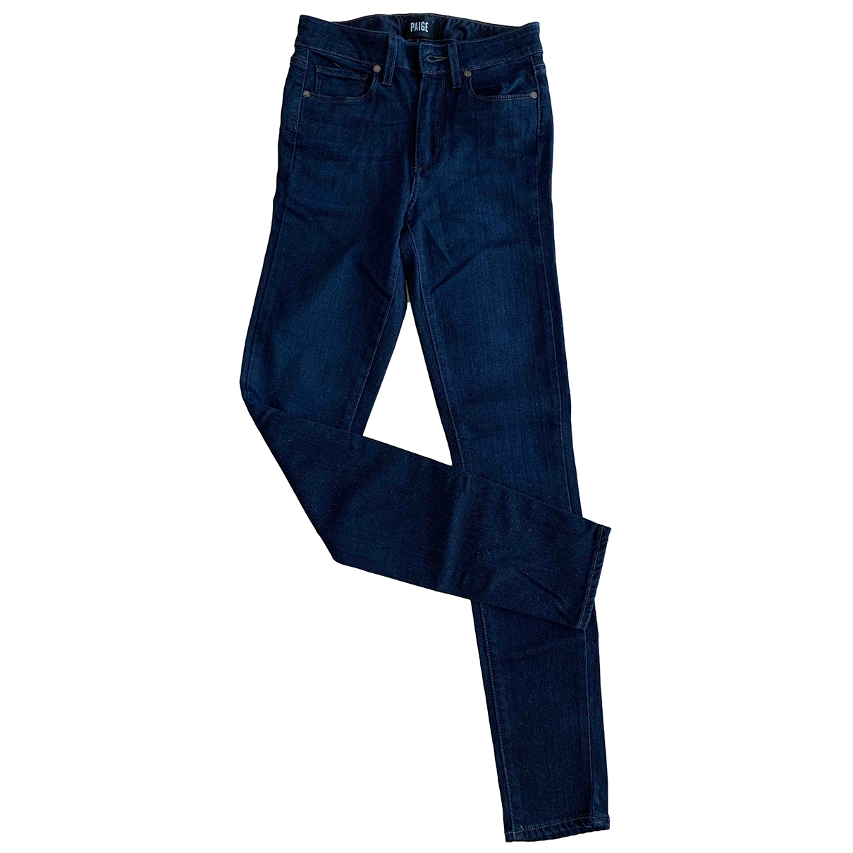 Paige Jeans \N Navy Cotton Jeans for Women 24 US