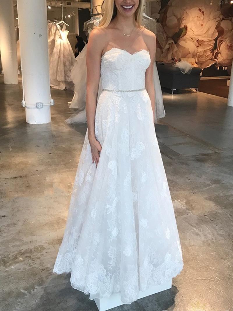Ericdress A-Line Beading Lace Wedding Dress