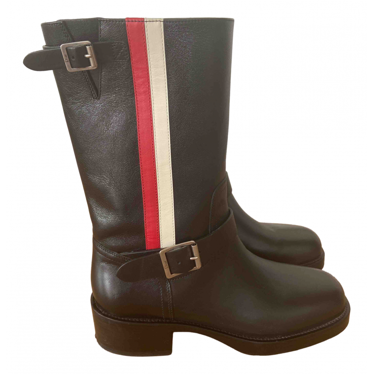 Dior \N Black Leather Boots for Women 36 EU