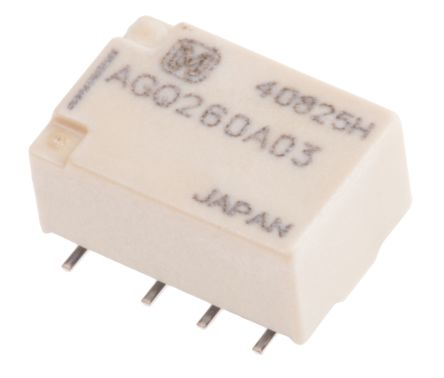Panasonic , 3V dc Coil Non-Latching Relay DPDT, 1A Switching Current PCB Mount