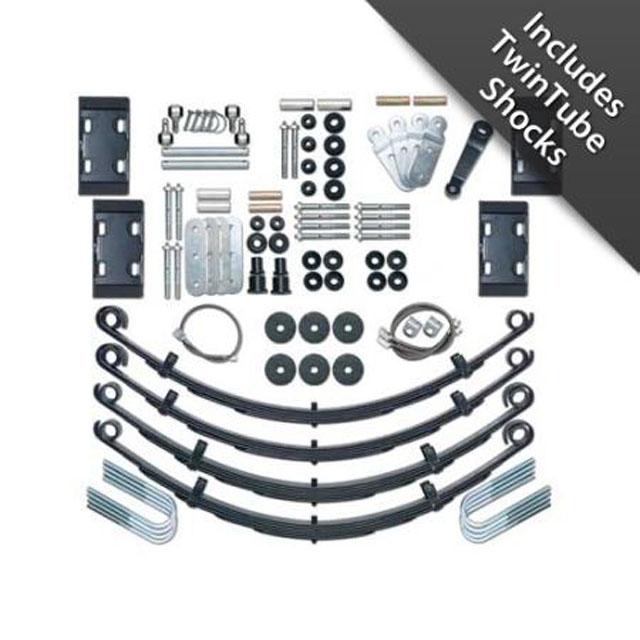 CJ Lift Kit Extreme Duty 4.5 Inch W/Twin Tube Shocks 76-86 Jeep CJ5, CJ7, Scrambler CJ Rubicon Express RE5525T