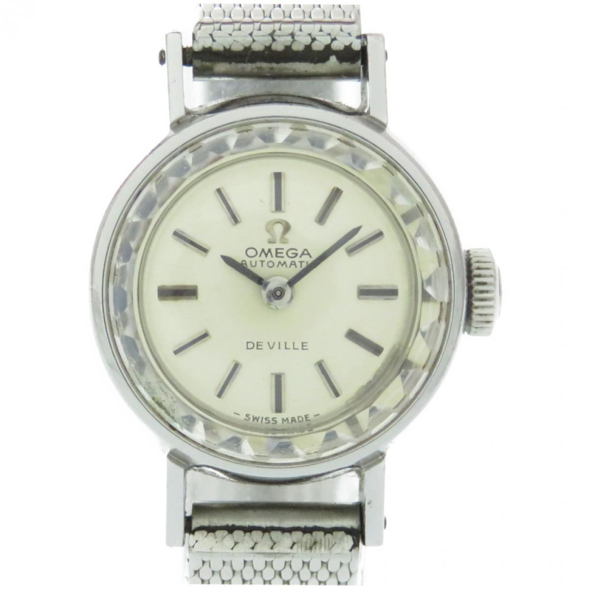 Omega De Ville  Silver Steel watch for Women \N