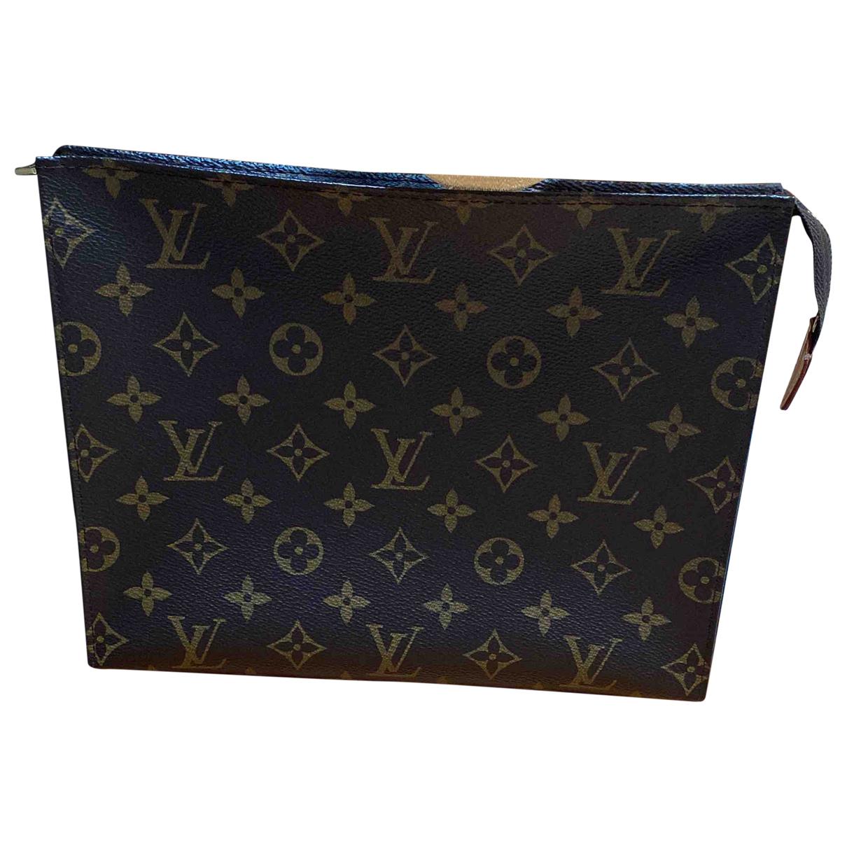 Louis Vuitton Poche toilette Brown Cloth Travel bag for Women \N