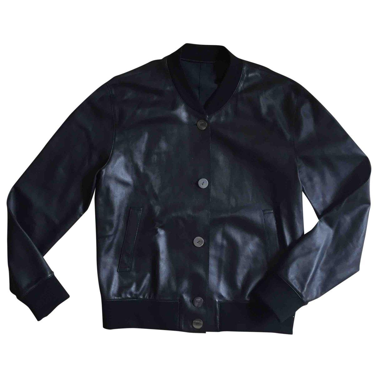 Loewe \N Black Leather jacket for Women 36 FR