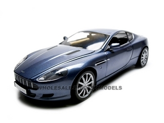 2004 Aston Martin DB9 Coupe Blue 1/18 Diecast Model Car by Motormax