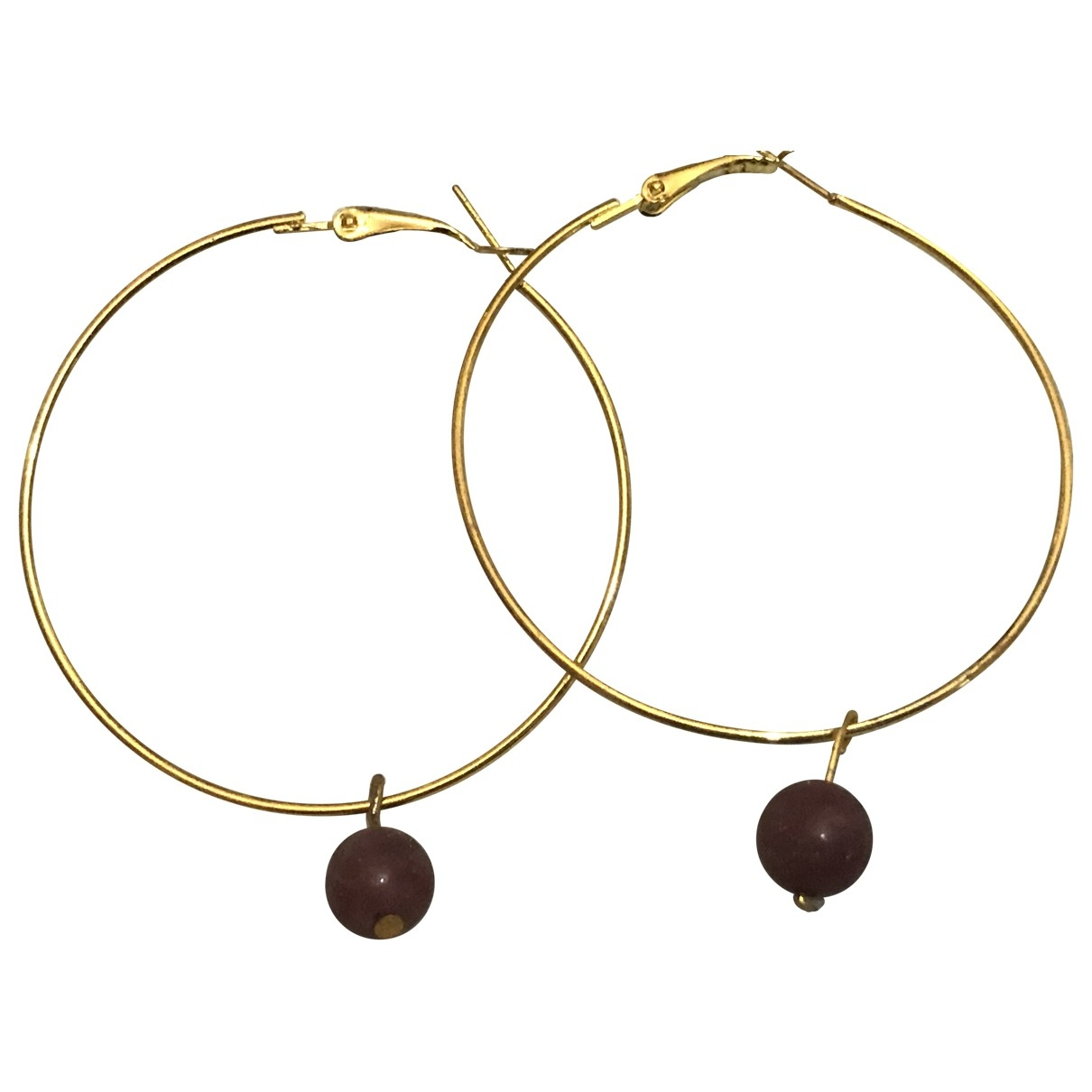 Non Signé / Unsigned Rubis Gold Metal Earrings for Women \N