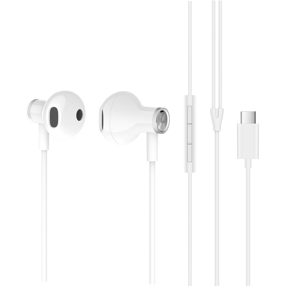 Xiaomi Type-C Earphone Dynamic Driver+Ceramics Driver In-ear Wired Earbuds with Mic - White