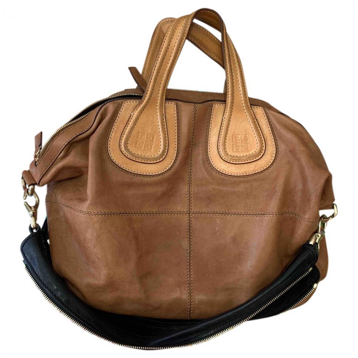 Givenchy Nightingale Camel Leather handbag for Women \N