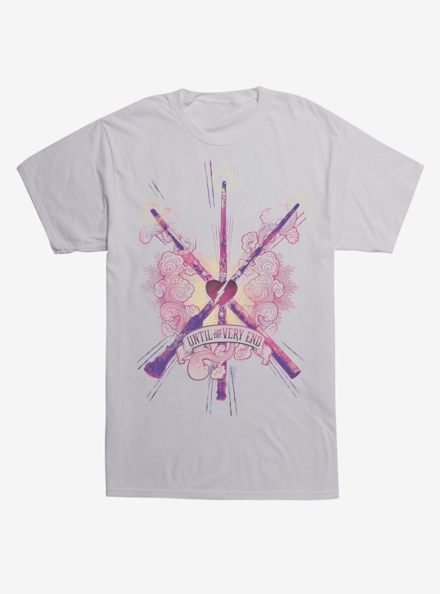 Harry Potter Until The Very End Wands T-Shirt